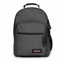 Sac à dos deux compartiments Eastpak Morius K40F 77H couleur Black denim  vue de face.