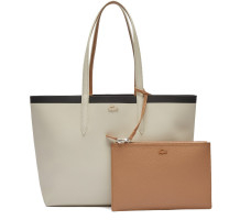 Sac shopping réversible Lacoste Anna bande contrastée NF2994AS-F23 Sable / Tan / Noir