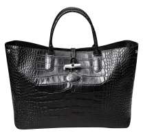 Grand sac cabas Roseau Croco
