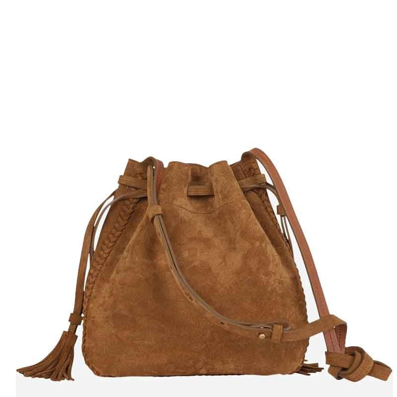 Sac seau cuir veau velours Gérard Darel Moon Point DHS10G407
