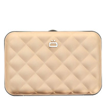 Porte-cartes matelassé Ogon Quilted button