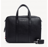 Sac porte ordinateur cuir grainé Tommy Hilfiger Downtown AM0AM04449
