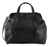 Grand sac cabas cuir Pieces Cora 17098050 Noir