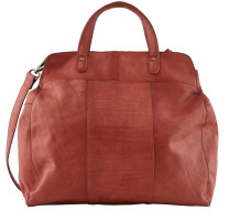 Grand sac cabas cuir Pieces Cora 17098050 Rouge Picante