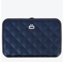 Porte-cartes Ogon Quilted matelassé button QB Navy Blue