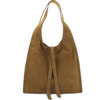 Grand sac hobo cuir velours Gerard Darel Cool Bag DMS05G4076905 Tabac Automne-Hiver 2020