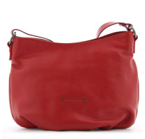 Grand sac porté travers cuir Fuchsia Axwell F9790-9 Rouge Carmin