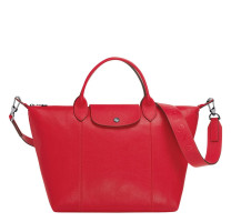 Sac porté main Longchamp Le Pliage Cuir L1515757545 Rouge