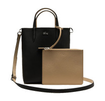 Sac shopping réversible Anna + pochette détachable NF2991AA A91 Lacoste couleur Black Warm Sand vue de face