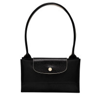 Sac tote bag L Longchamp Le Pliage Club L1899619P22 Noir plié